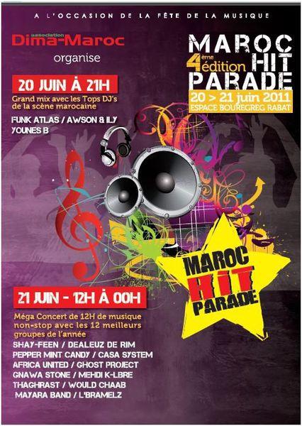 """4éme édition de Maroc Hit Parade/Musique des jeunes, sur les Quais de Rabat '""""Espace Bouregreg """""""