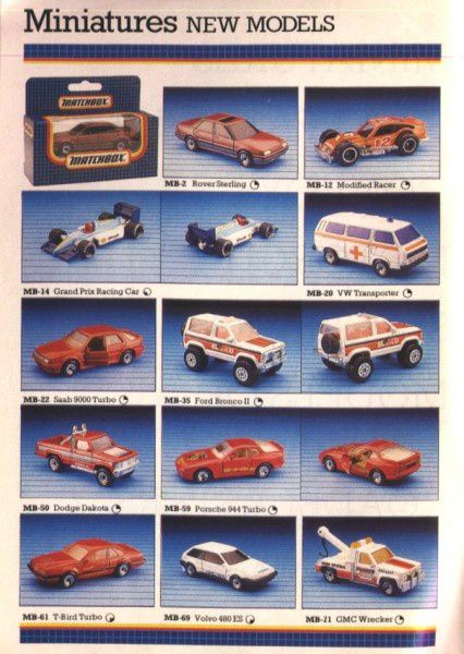 Catalogue Matchbox Annee 1988 Car Collector Net