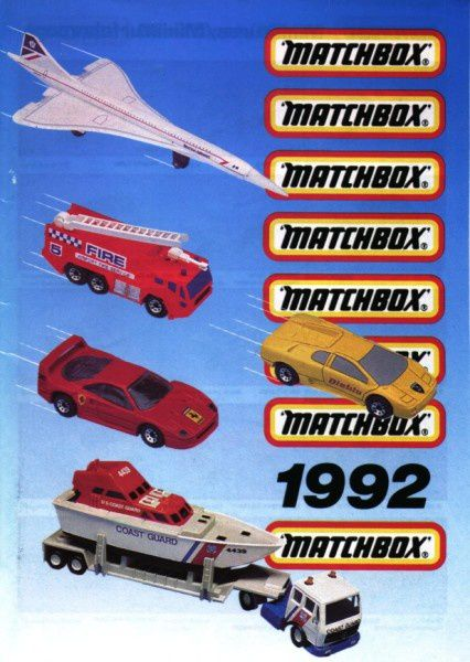 catalogue matchbox annee 1992 s01