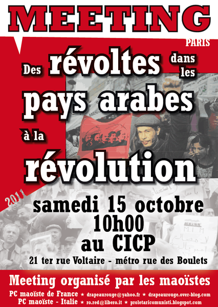 affiche meeting revoltes pays arabes