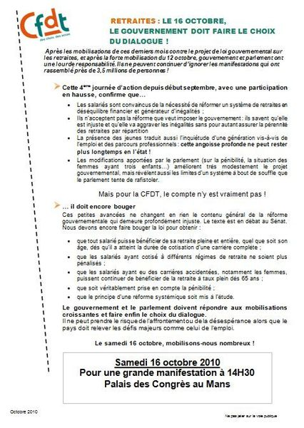 tract ud cfdt 16 octobre