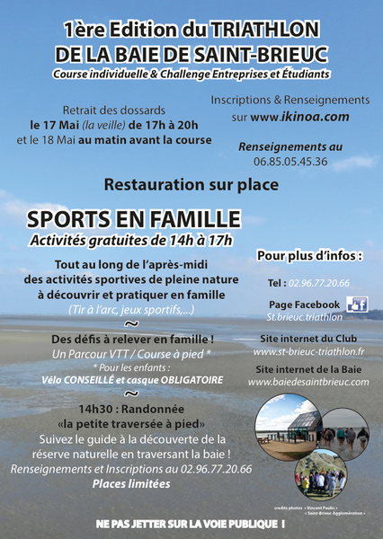 Affiche Tri Baie St-Brieuc Verso 2014