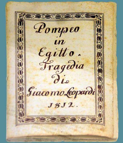 918e3 Pompée en Égypte, tragédie de Leopardi