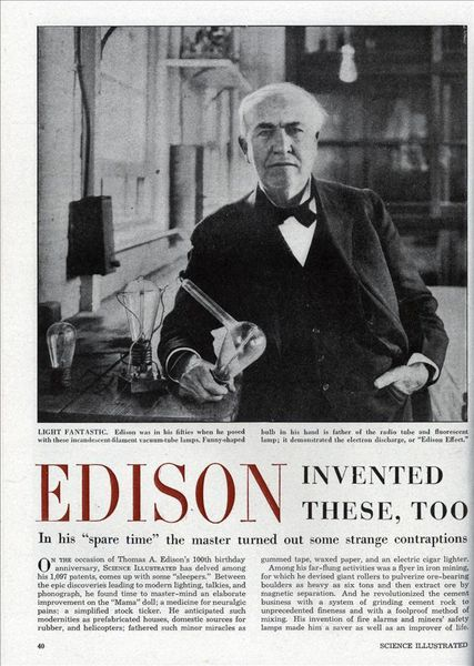 xlg edison invented these 0