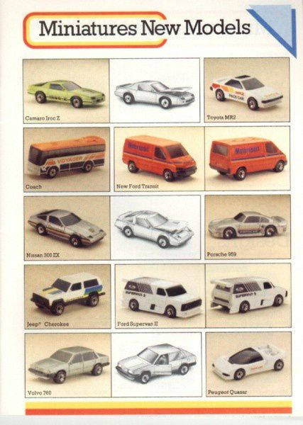 catalogue matchbox 1986 p07 mr2 cherokee 300zx quasar