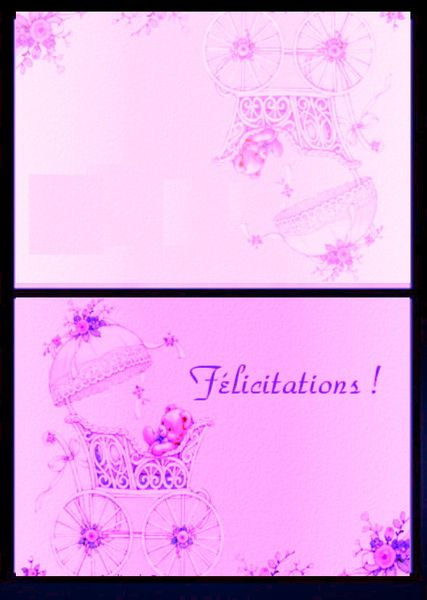 carte felicitation fille