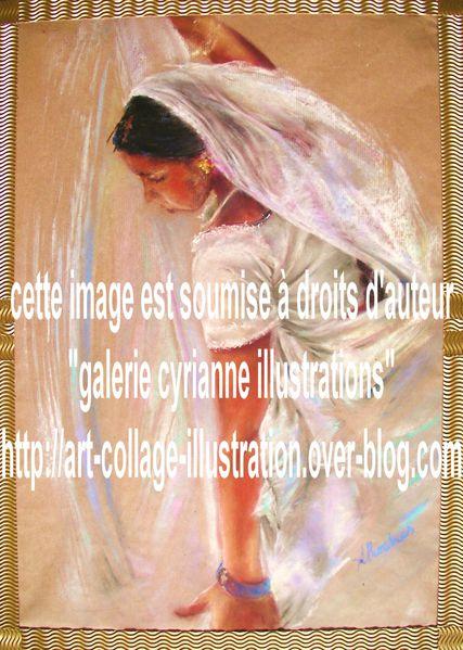 Illustration-pastel-sec-femme-indienne-sari-droits-auteur.JPG