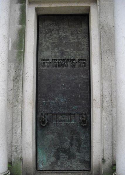 porte du monument commemoratif au droits de l'homme