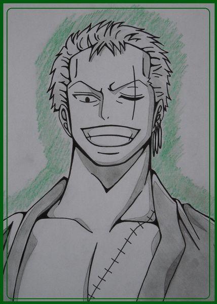 Comment dessiner zoro de one piece - Zoro one piece dessin ...