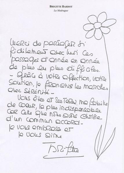 lettre de remerciement pour des amis