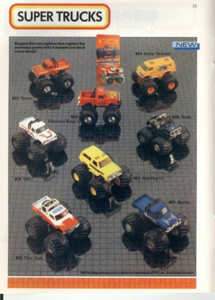 catalogue matchbox 1986 p16 super truck