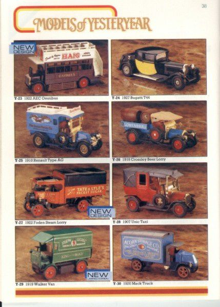 catalogue matchbox 1986 p38 mack truck walker van