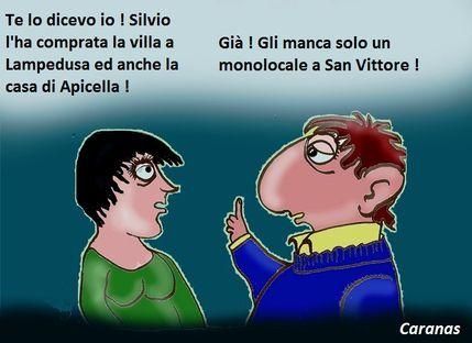 0- Silvio compra Villa a Lampedusa