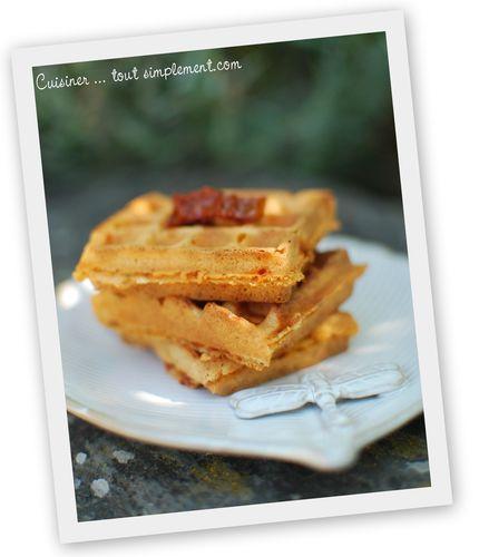Minis gaufres aux tomates s ch es cuisiner tout simplement le blog de cuisine de nathalie - Cuisiner les tomates sechees ...
