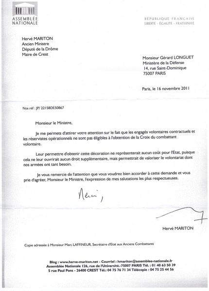 exemple lettre motivation gendarme adjoint volontaire
