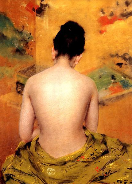 430px-Chase William Merritt Back Of A Nude 1888