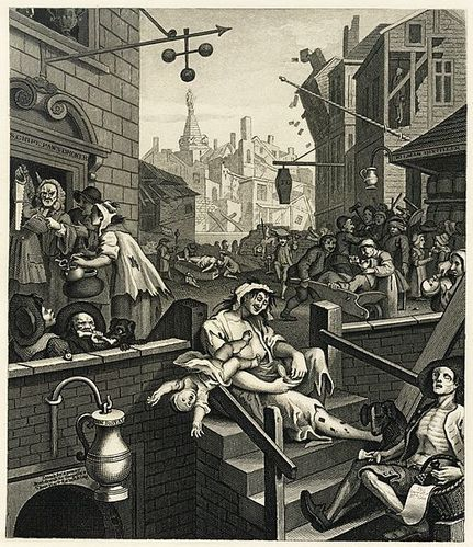 Gin Lane, William Hogarth 1751 Samuel davenport 1880 Wikiped