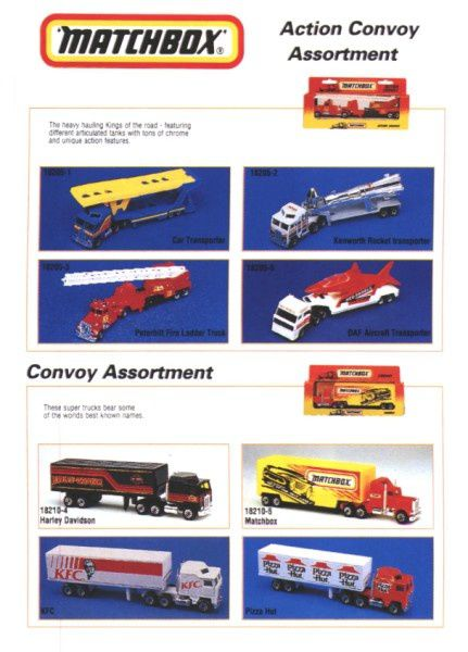 catalogue matchbox 1995-96 l09 camion pizza hut