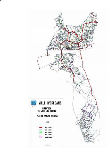 déneigement voies d'Orléans