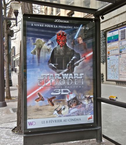affiche Quick star wars bus