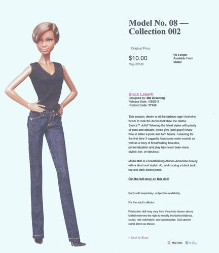 02 Barbie Basic Model No 08 Collection 002