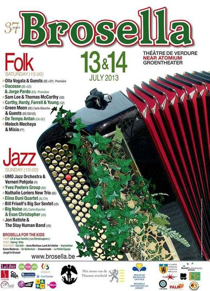 Brossella Folk & Jazz 2013, ce samedi et dimanche 13 et 14 juillet