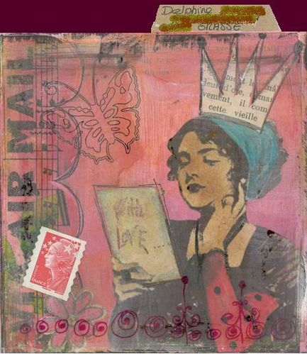 Mail Art 9886 - Delphine 2