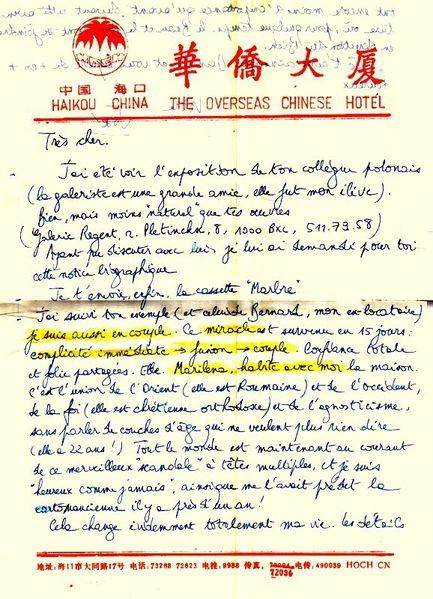 Mai 1991 Lettre Bedeur370