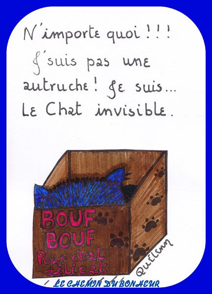 le chat fait l'autruche -