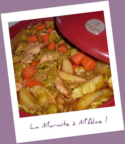 tajine poulet feves 2