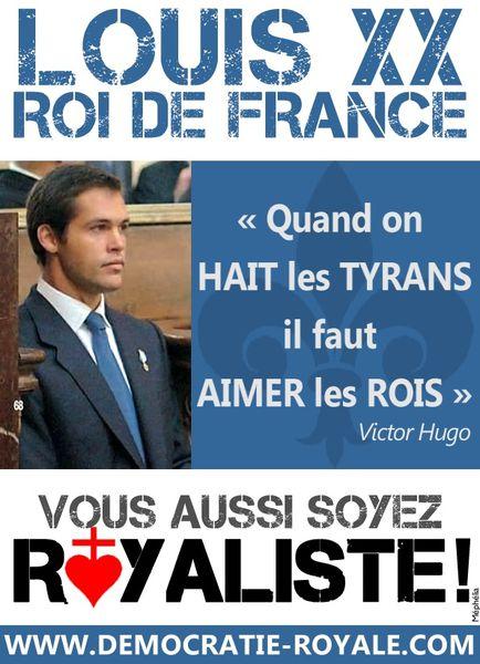 Royalisme - Louis XX - Louis de Bourbon - Roi de France Hug