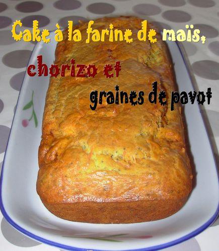 Cake maïs, chorizo, pavot2
