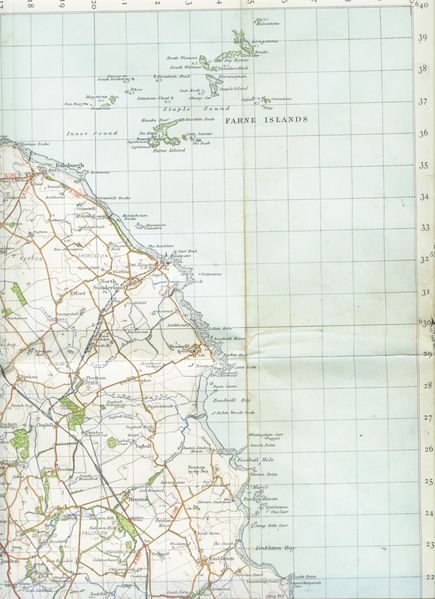 Farne Islands map 1947