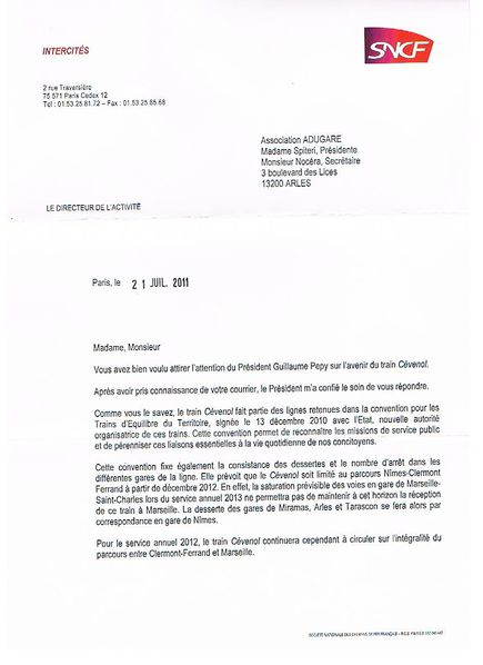 modele lettre motivation sncf