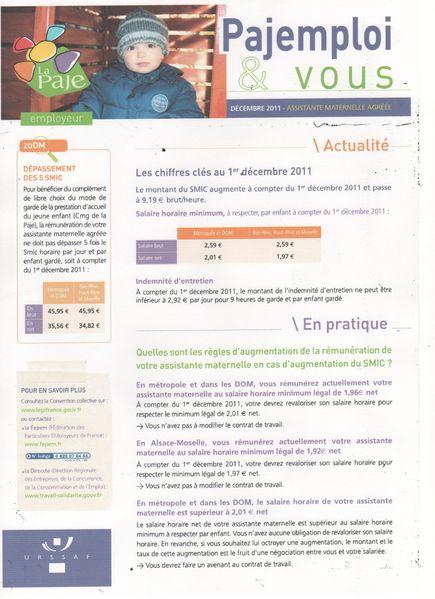 info pajemploi décembre 2011