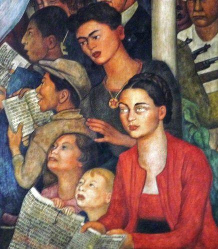 Mexico Palacio Nacional Fresque Rivera gauche détail (2)