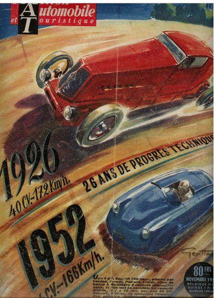 Daniel bayle Geo Ham couv automobile et touristique 1952
