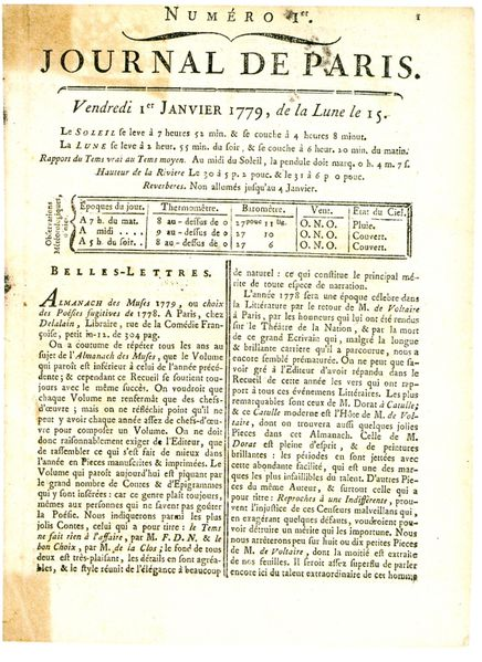 Journal de Paris 1779-2