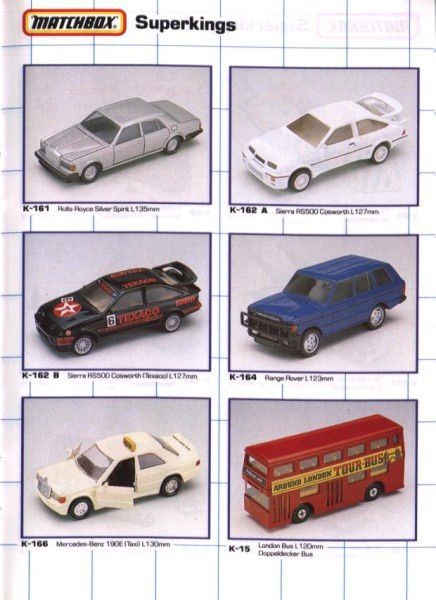 catalogue matchbox 1990 s30 sierra rs cosworth