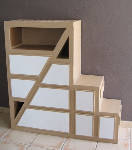 meuble en carton pour ma fille la suite meubles en carton marie krtonne. Black Bedroom Furniture Sets. Home Design Ideas