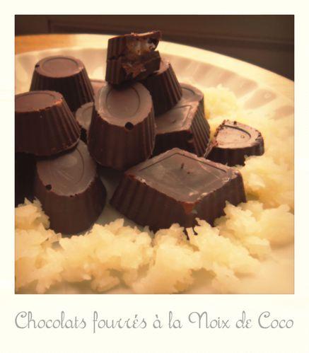 Chocolats fourrés à la noix de coco