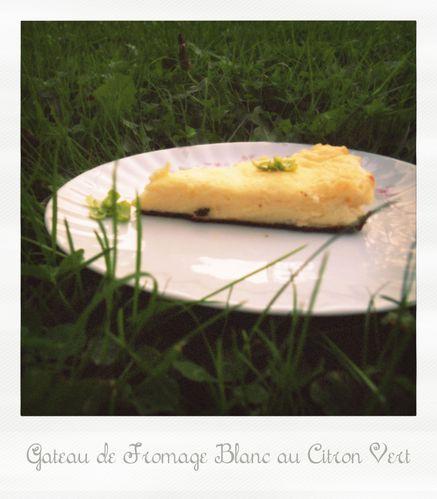 Gateau de fromage blanc au citron vert