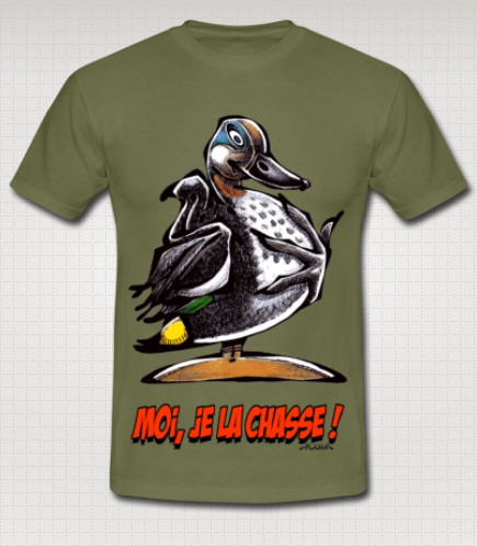 T-shirt Chasse Sarcelle mahm