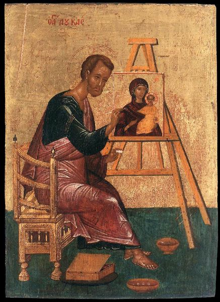 Unknown painter - Luke Paints the Icon of the Mother of God