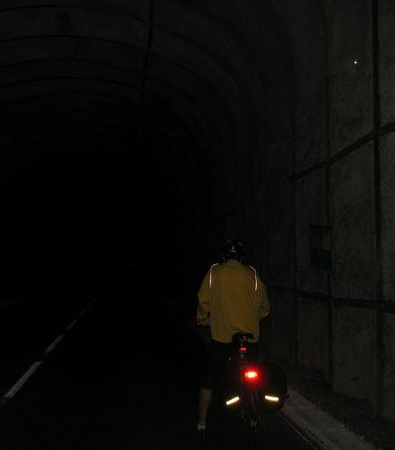 Drôme. Patrick dans le tunnel !!!