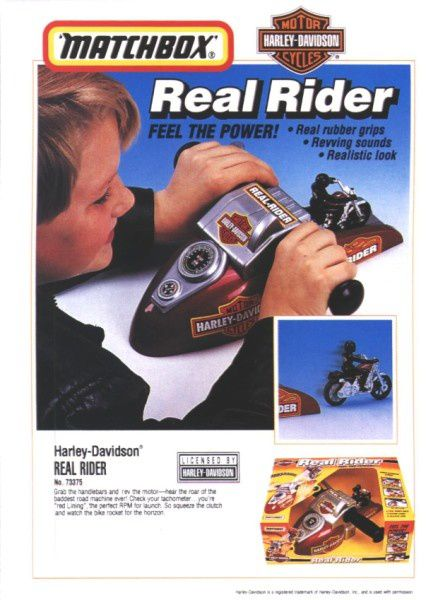 catalogue matchbox 1995-96 l19 real rider hd