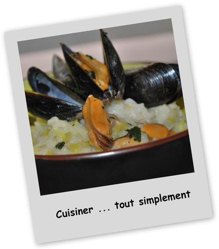 risotto poireau moules1