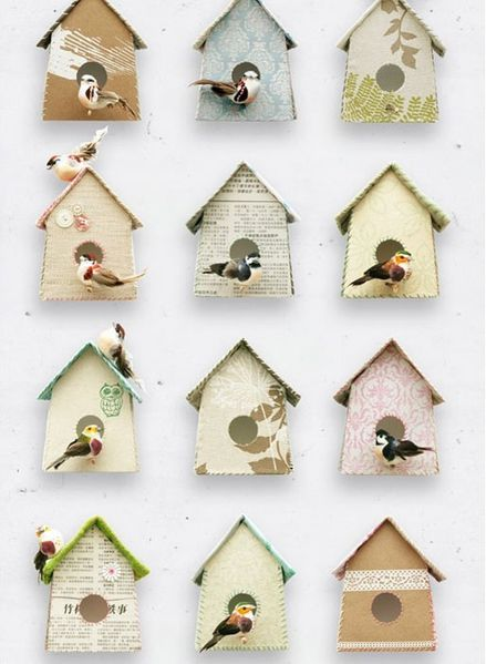PAPIER PEINT BIRDHOUSE STUDIO DITTE THE COLLECTION