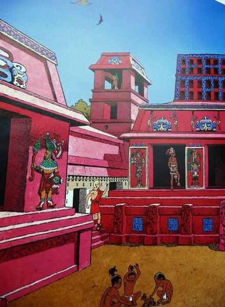Jour 7 Palenque dessin livre