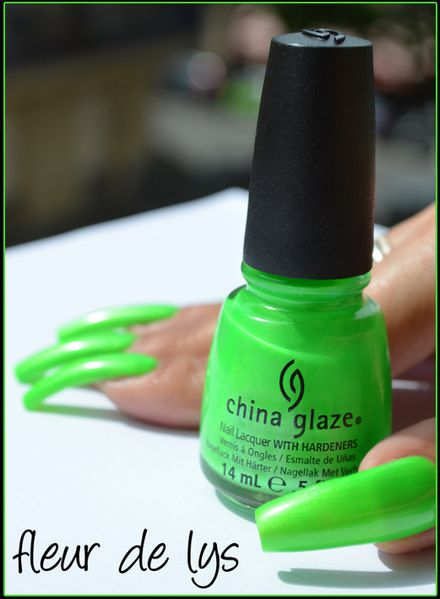 China Glaze Summer Neons Collection swatches